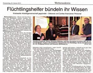 WZ Artikel AG Flüchtlingshilfe