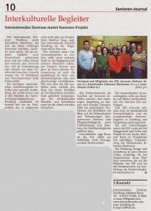 Bericht Seniorenjournal der Wetterauer Zeitung